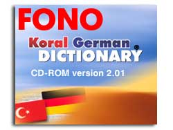KORAL German-Turkish Talking Dictionary