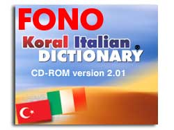 KORAL Italian-Turkish Talking Dictionary